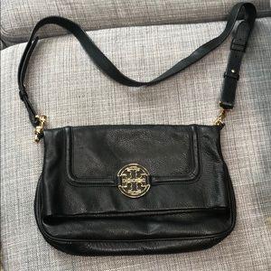 Tory Burch Amanda Flapover Crossbody Leather Bag